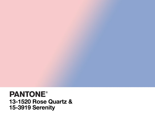 PANTONE color of the year Rose Quartz & Serenity