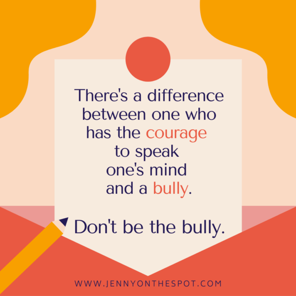 Don't be the bully