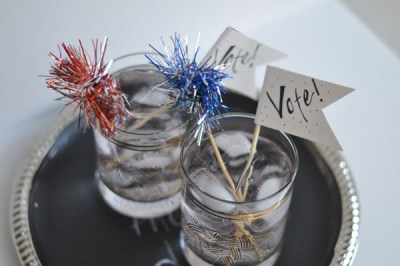 Election Day Cranberry Cream Cooler via stylewithinreach.net