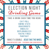 Ten Election Day Libations and an Election Day Drinking Game!