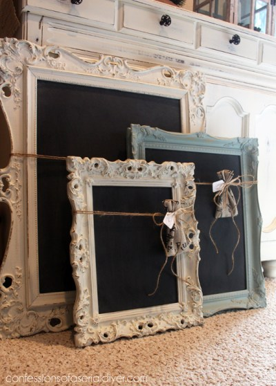 old frames for chalkboards