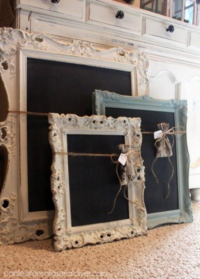 old frames for chalkboards