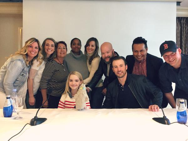 Gifted Junket | Chris Evans | Mckenna Grace | Jenny On The Spot Blog