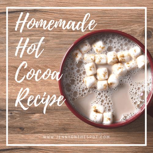 Homemade Hot Cocoa recipe | www.jennyonthespot.com