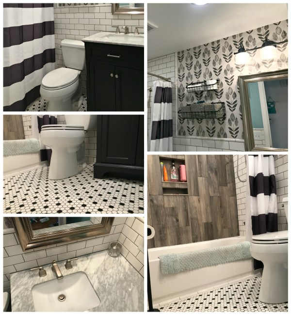 finished small bathroom remodel