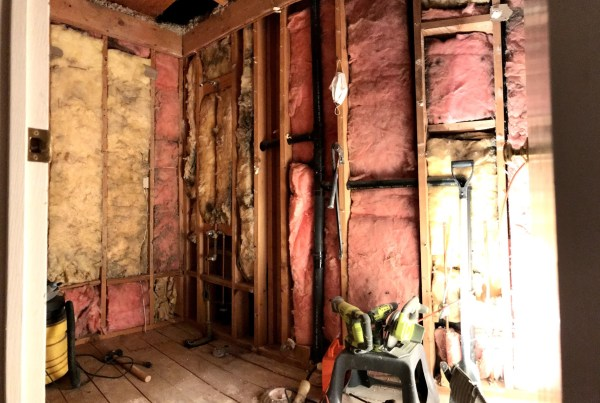 Bathroom: COMPLETELY gutted