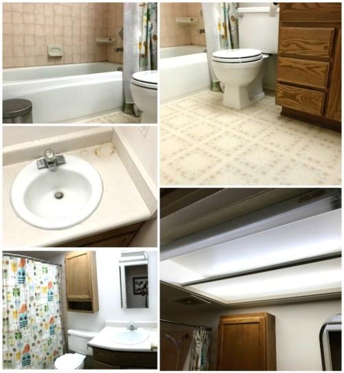 The bathroom BEFORE | jennyonthespot.com