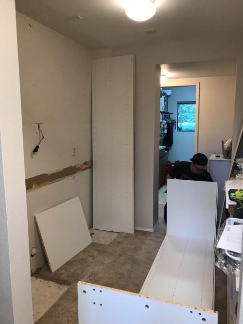 Building new Ikea SEKTION cabinets | www.jennyonthespot.com
