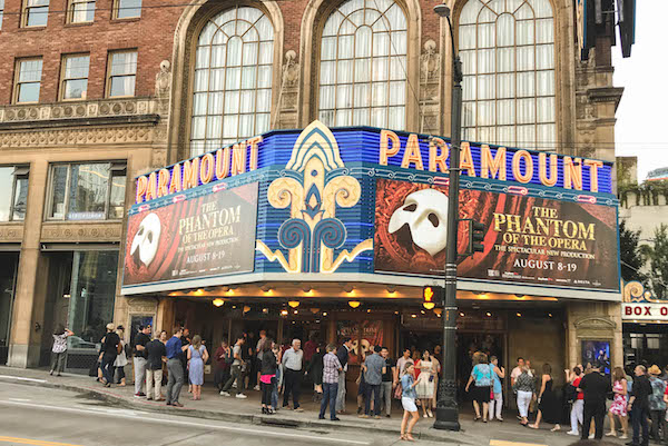Phantom of the Opera at Seattle paramount Theatre August 8-19, 2018