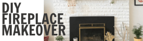 DIY Fireplace Makeover and a Paint Tool Hack!