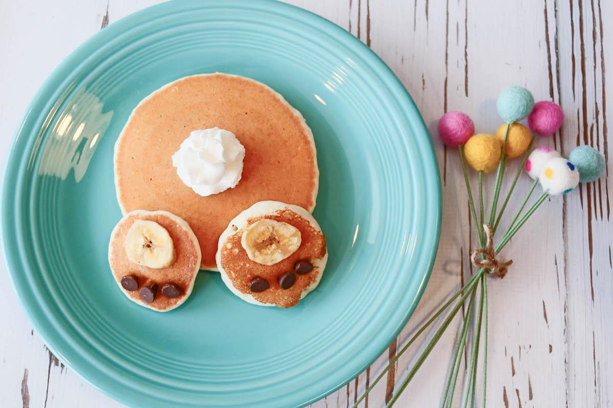 Bunny Bottom Pancake #easter #finwithfood #playwithfood #pancakes #breakfast