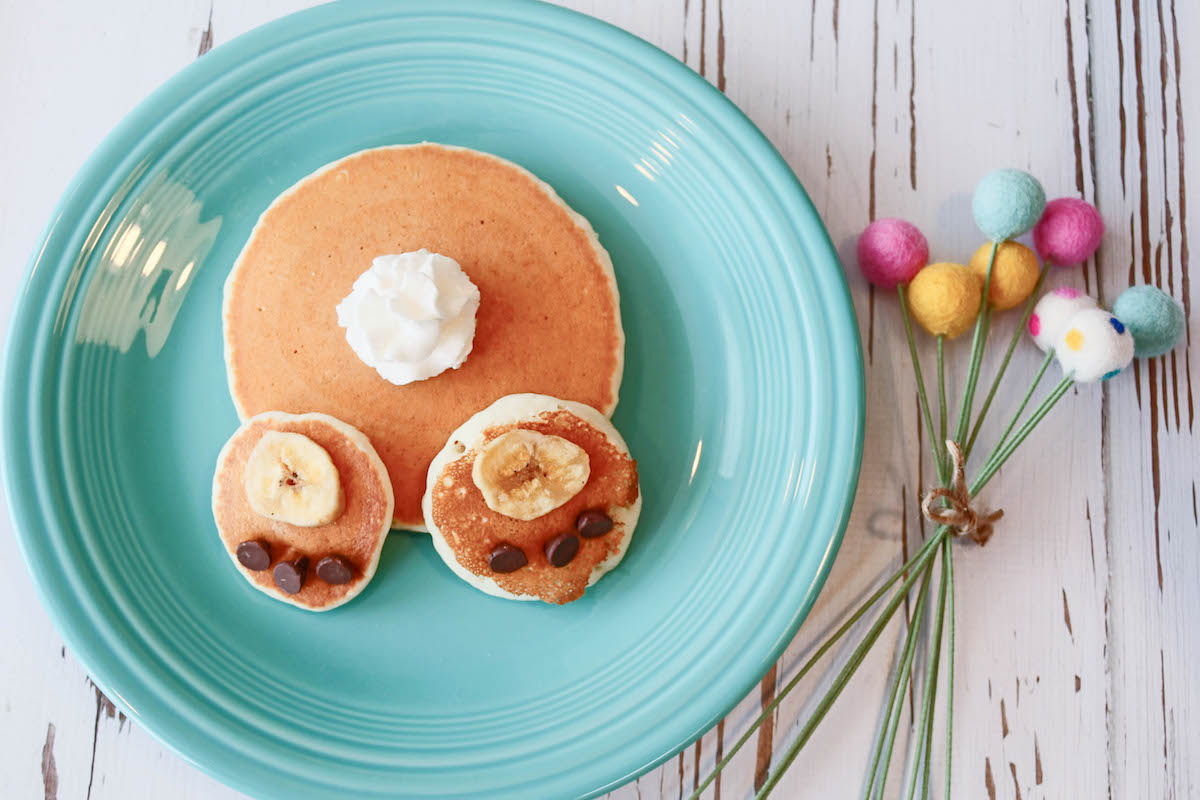 Bunny Bottom Pancake #easter #finwithfood #playwithfood #pancakes #breakfast