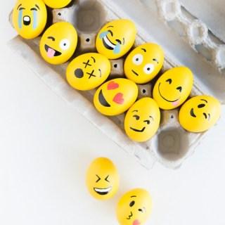 Emoji Easter Eggs - Easter Egg Decorating Inspiration