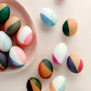 Color Block - Easter Egg Decorating Inspiration