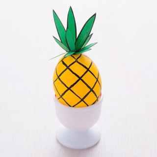 Pineapple Easter Eggs - Easter Egg Decorating Inspiration