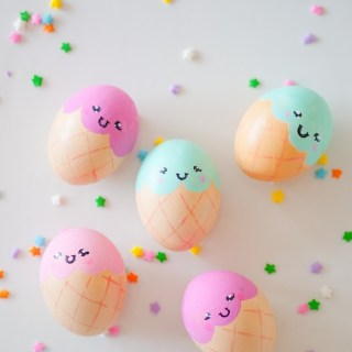 Ice cream cone Easter eggs - Easter Egg Decorating Inspiration
