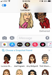 Select your friend to Friendmoji
