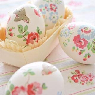 decoupage Easter eggs - Easter Egg Decorating Inspiration