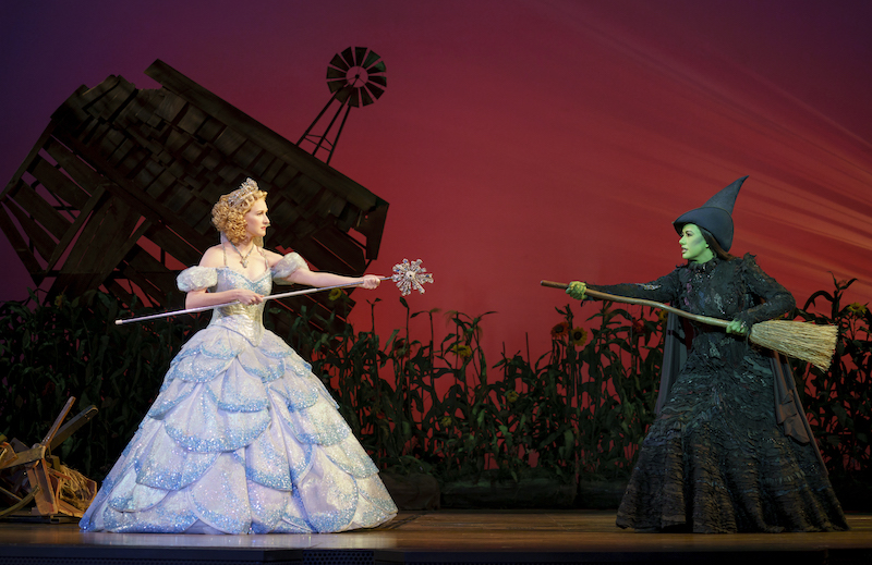 Erin Mackey & Mariand Torres in WICKED. Photo by Joan Marcus