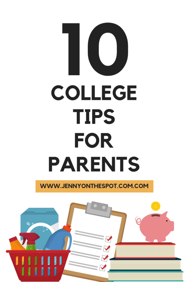 10 College Tips for Parents #collegetipsforparents #college