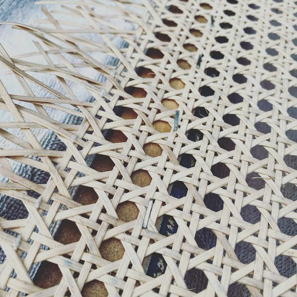 stapled cane webbing