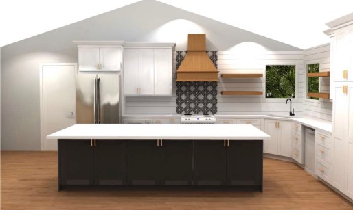 Kitchen remodel design with second wave of changes