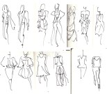amelias magazine - london college of fashion - paradise lost - Digital Catwalk - jenny robins sketches 2