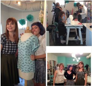 sewing party behind the scenes
