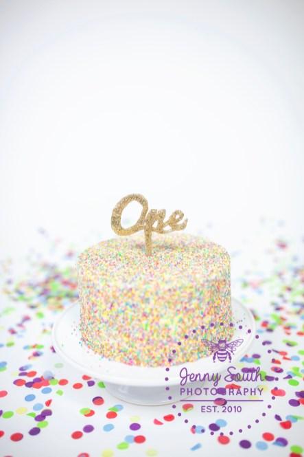Funfetti Cake for a confetti themed cake smash