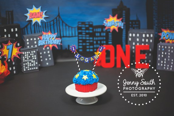 A superhero Cake smash session in Plymouth's Royal William yard