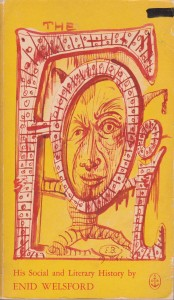 The Fool by Enid Welsford book cover a book about jesters and fools