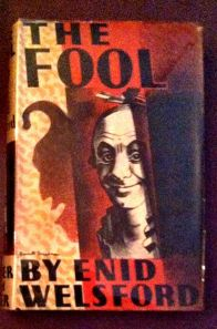 The Fool by Enid Welford hardback book cover about jesters and fools