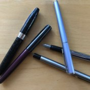 Jenny's fountain pen collection on her about me page