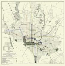 Washington DC streetcar map from 1891