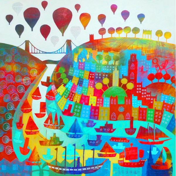 Bristol landmarks including Clifton Suspension Bridge and SS Great Britain by Jenny Urquhart