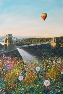 early flight with hot air balloon earlly in the morning near clifton supension bridge by jenny urquhart