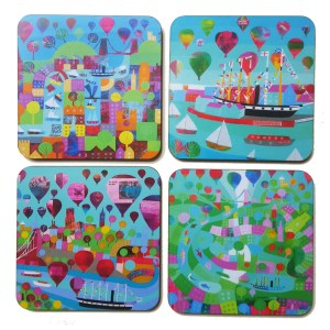 Bristol Harbour pack of 4 coasters by Jenny Urquhart