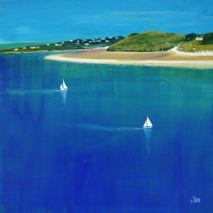 sailing in daymer bay near rock and padstow by jenny urquhart