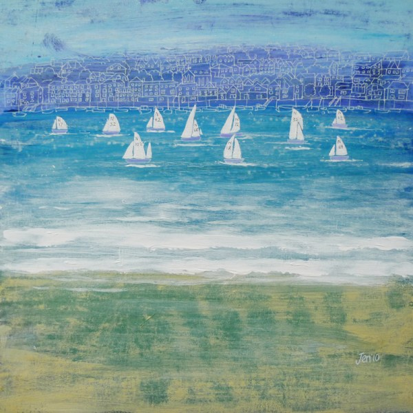 winter sailing in salcombe devon by jenny urquhart