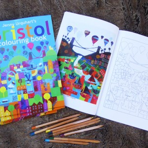 Bristol scenes to colour in ina 23 double page colouring book by Jenny urquhart