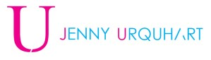 Jenny Urquhart Art logo in pink and turquoise