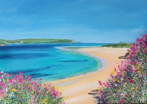 Rock Daymer Bay in Conrwall by Jenny Urquhart
