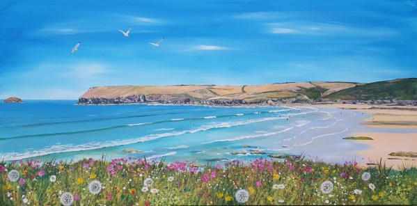 Flowers at Polzeath by Jenny Urquhart