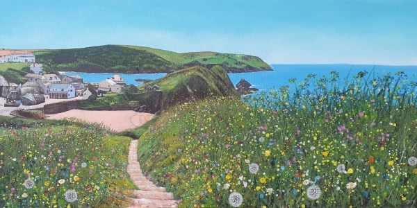 Path to Hope Cove in Devon by Jenny Urquhart