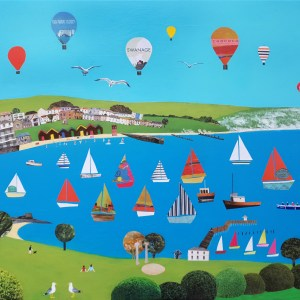 swanage in dorset by Jenny Urquhart