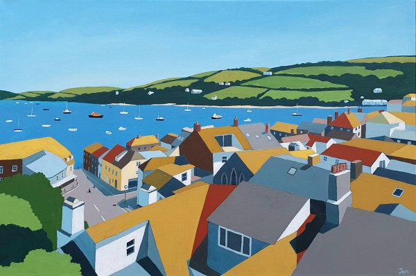 salcombe rooftops by jenny urquhart