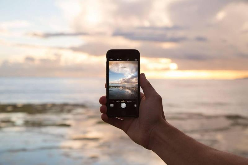 Cell phone taking a picture