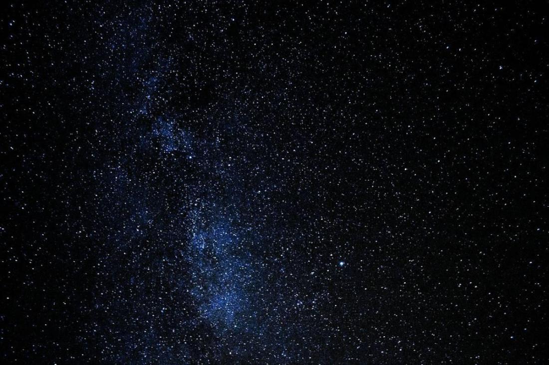 Night sky lit up with stars