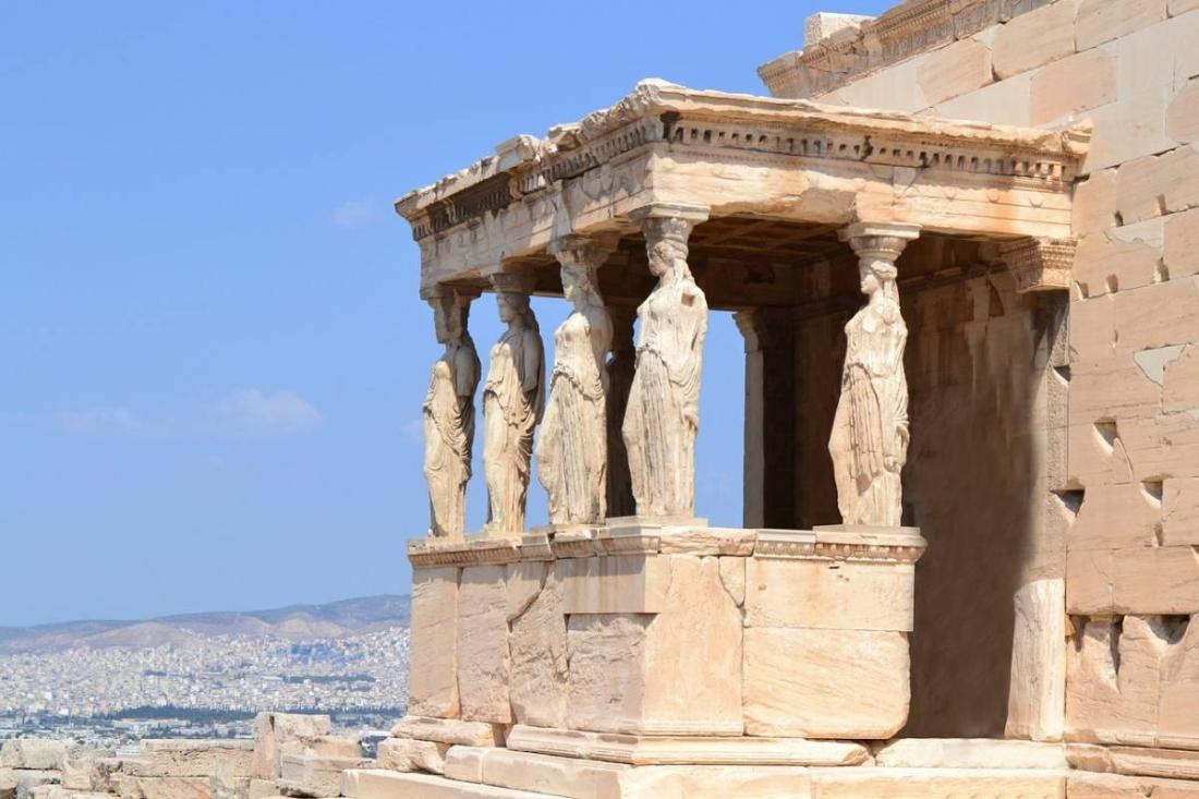 Overlooking the city from the Parthenon