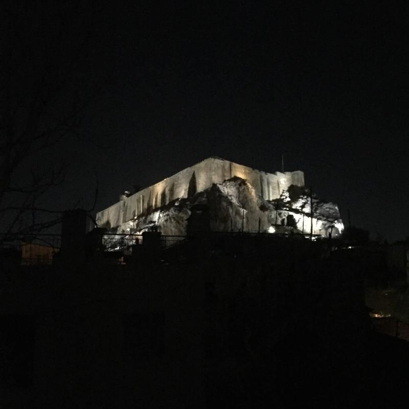 View of the Parthenon from my AirBnb